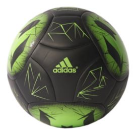 adidas Messi Size 5 Soccer Ball - Black/Solar Green