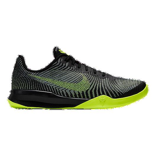 2e0b801b653c Nike Men s KB Mentality II Basketball Shoes - Black Volt Green ...
