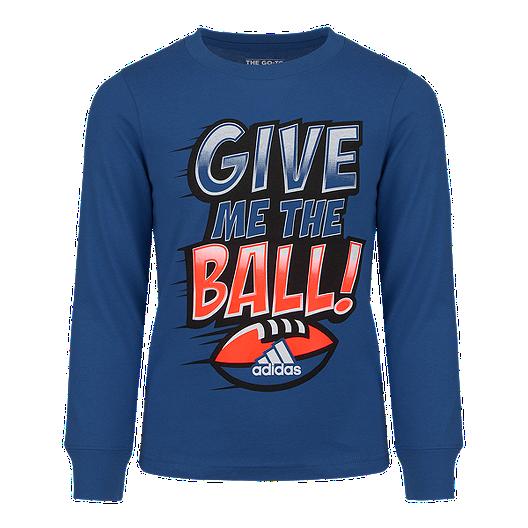 ed371393951f adidas Boys' 4-7 Give Me The Ball Boys' Long Sleeve Shirt | Sport Chek