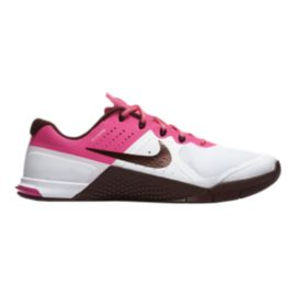 Nike Women's Metcon 2 Training Shoes - White/Pink/Maroon