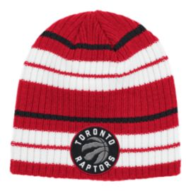 Toronto Raptors Striped Beanie