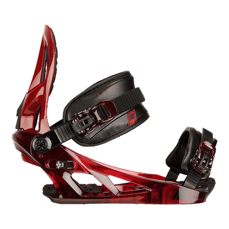 k2 sonic men 39 s snowboard bindings 2016 17 transparent red sport chek. Black Bedroom Furniture Sets. Home Design Ideas