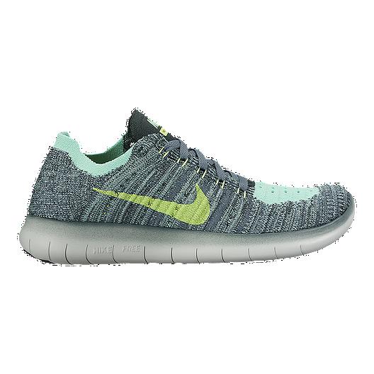 the latest ffd45 c9e29 Nike Kids  Free Run FlyKnit Grade School Running Shoes - Hasta Green    Sport Chek