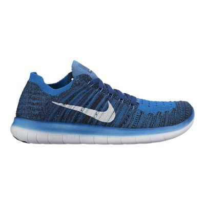 Nike Kids' Free Run FlyKnit Grade School Running Shoes - Blue/White