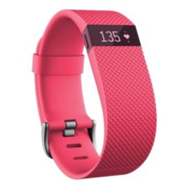 Fitbit Charge HR Fitness Tracker - Pink Large
