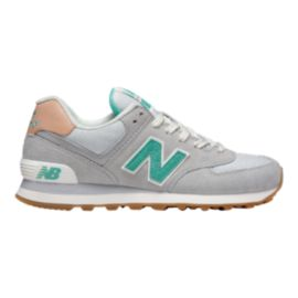 New Balance Women's 574 Shoes - Grey/Turquoise