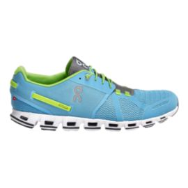 ON Men's CloudDiver Running Shoes - Blue/Lime Green
