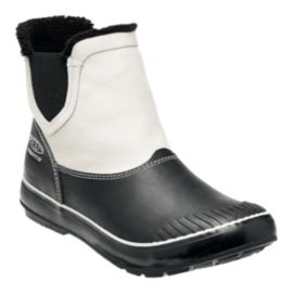 Keen Women's Elsa Chelsea Waterproof Winter Boots - White/Black