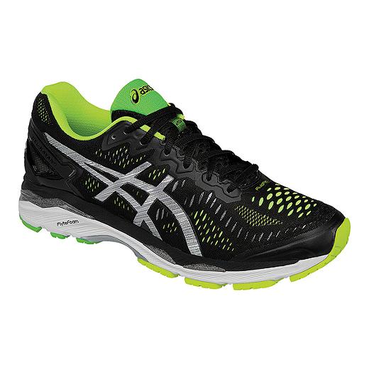 the latest 6ffa7 ae113 ASICS Men s Gel Kayano 23 Running Shoes - Black Lime Green Silver   Sport  Chek