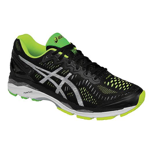 dd041fbca88c ASICS Men s Gel Kayano 23 Running Shoes - Black Lime Green Silver ...