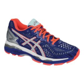 ASICS Women's Gel Kayano 23 LS Running Shoes - Dark Blue/Coral Pink/Silver