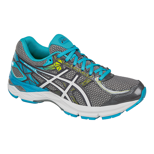 ASICS Women's Gel Exalt 3 Running Shoes - Grey/Blue/White