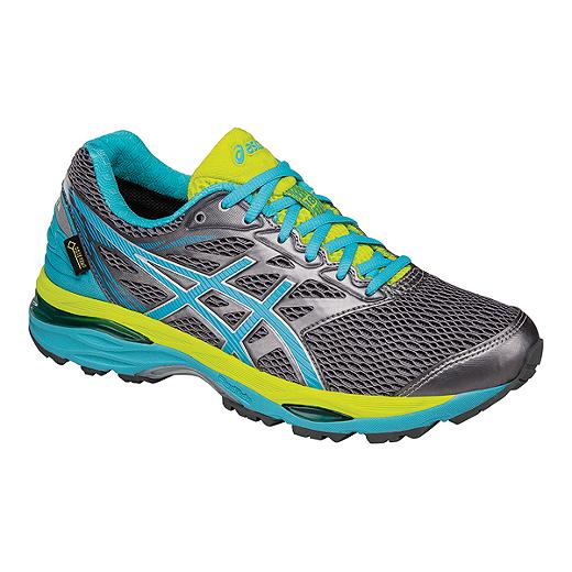ASICS Women's Gel Cumulus 18 GTX Running Shoes - Dark Grey/Teal/Green