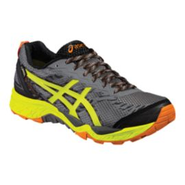 ASICS Men's Gel FujiTrabuco 5 GTX Trail Running Shoes - Grey/Yellow/Black