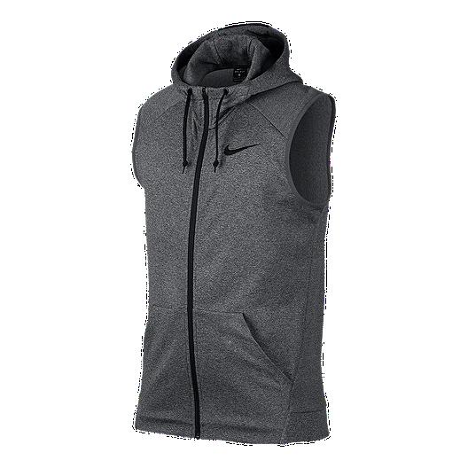 36eaa4ef017074 Nike Therma Swoosh Men s Full-Zip Sleeveless Hoodie