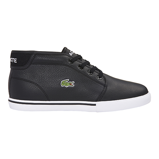 423e92a7af5a Lacoste Men s Ampthill LCR Chukka Shoes - Black White