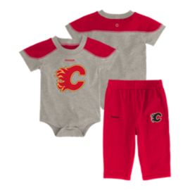 Calgary Flames Future All-star Baby Onesie Bodysuit & Pants Set