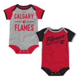 Calgary Flames Descendant 2 Piece Baby Onesie Bodysuit Set