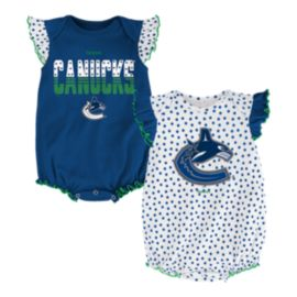 Vancouver Canucks Polka Fan 2 Piece Infant Creeper Set