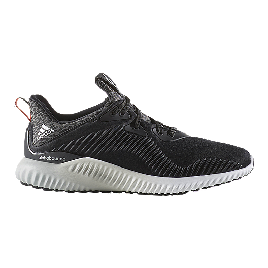 f3a9500655a6e adidas Women s Alpha Bounce Running Shoes - Black White