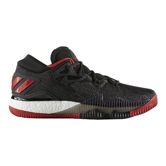 6c27104354e adidas Men s CrazyLight Boost Low Basketball Shoes - Black.Red White ...