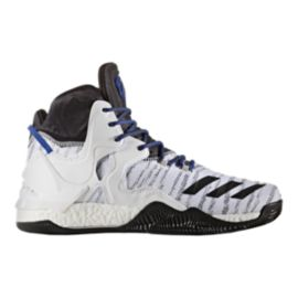 "adidas Men's D Rose 7 PrimeKnit ""Alt. Home"" Basketball Shoes - White/Black"