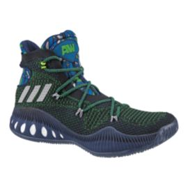 "adidas Men's Crazy Explosive Primeknit ""Wiggins"" Basketball Shoes - Black/Green/Blue"