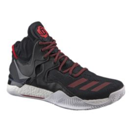 "adidas Men's D Rose 7 ""Away"" Basketball Shoes - Black/Red"