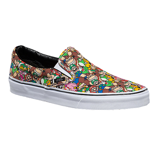 39b593bc0f Vans Classic Slip-On (Nintendo Mario) Skate Shoes