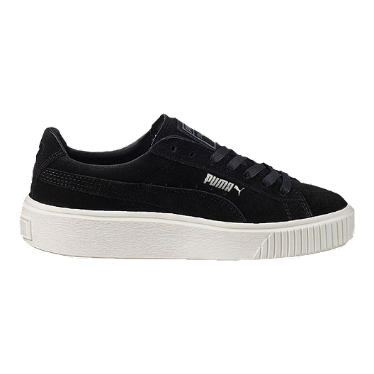 PUMA Women s Suede Platform (Core) Shoes - Black  f6dcfe1fc