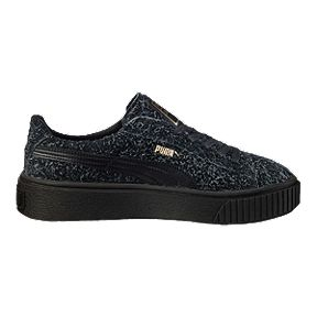 PUMA Women s Suede Platform Elemental Shoes - Black 05cdef366