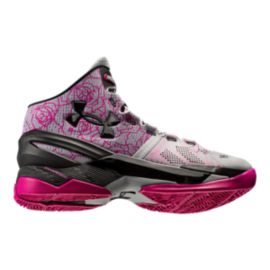 "Under Armour Men's Curry 2 ""Mother's Day"" Basketball Shoes - Grey/Pink/Black"