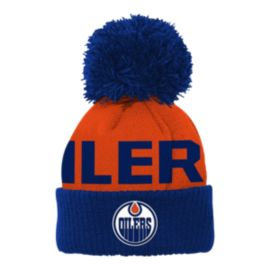 Edmonton Oilers Cuffed Pom Toddler Knit