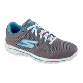 Skechers Women's Go Walk 2 Surge Walking Shoes - Grey/Blue