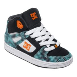 DC Kids' Rebound TX SE Preschool Skate Shoes - Black/White/Blue