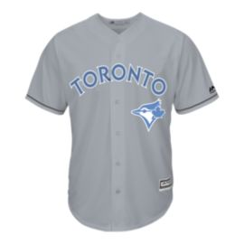 Toronto Blue Jays Father's Day Baseball Jersey - Grey/Light Blue