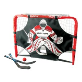 Bauer Deluxe Knee Hockey Goal Set - Steel
