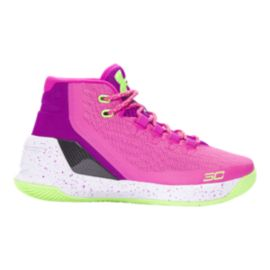 Under Armour Girls' Curry 3 Grade School Basketball Shoes - Pink