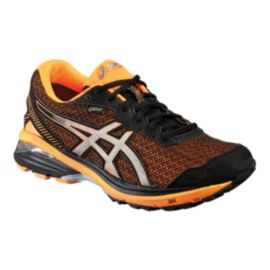 ASICS Men's GT-1000 5 GTX Running Shoes - Black/Silver/Orange