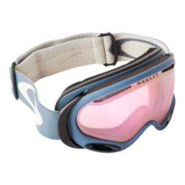 Oakley A Frame 2.0 Distress Pink Goggles with Prizm Hi-Pink Lenses