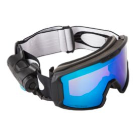 Oakley Line Miner Matte Black Snow Goggles with Prizm Inferno Jade Lenses - 16/17