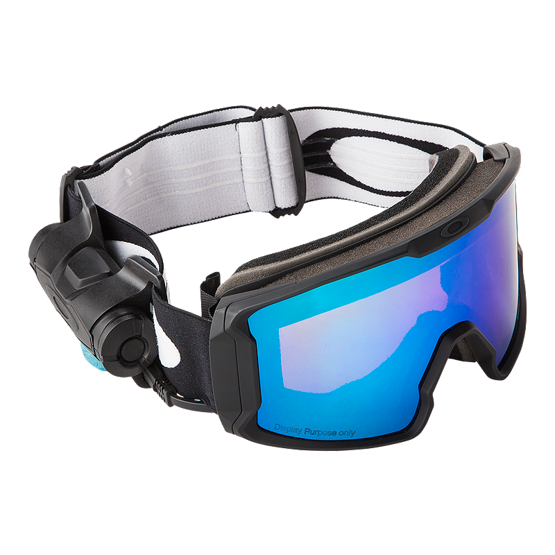 c0b3f9c1353 Oakley Line Miner Matte Black Snow Goggles with Prizm Inferno Jade Lenses -  16 17