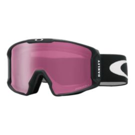 Oakley Line Miner Matte Black Snow Goggles with Prizm Inferno Rose Lenses - 16/17
