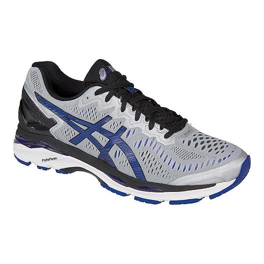 low priced b1141 3874d ASICS Men's Gel Kayano 23 Running Shoes - Silver/Blue/Black