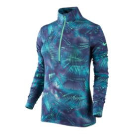 Nike Pro Warm Notebook All Over Print Women's Half Zip Long Sleeve Top