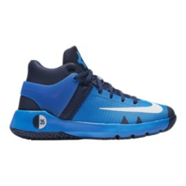 Nike Kids' KD Trey 5 IV Grade School Basketball Shoes - Blue/Citrus/Navy