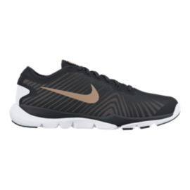 Nike Women's Flex Supreme TR 4 Training Shoes - Black/Bronze/White