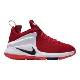 Nike Kids' Zoom Air Witness Grade School Basketball Shoes - Red/Black/Crimson