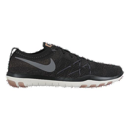 6379a5697da1 Nike Women s Free TR Focus FlyKnit Training Shoes - Black Grey White ...