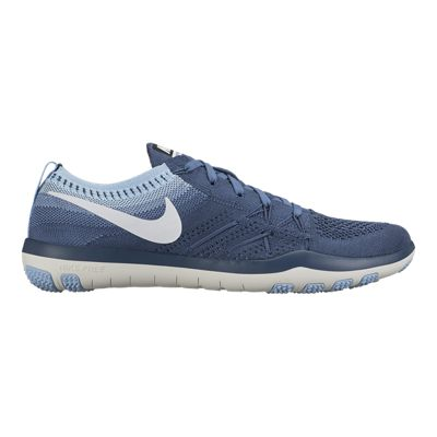 Nike Women's Free TR Focus FlyKnit Training Shoes - Grey Blue